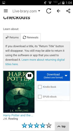 android app download book