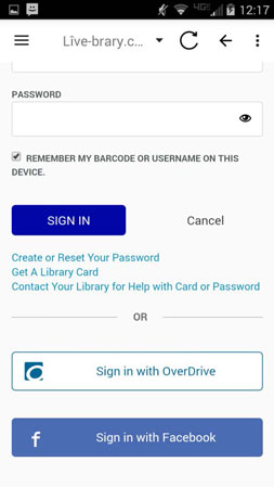 android app password