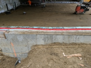 ground is compacted